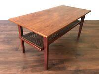 Retro Teak Coffee Table - Mid Century Modern Vintage - Side Table - Danish Style Scandinavian