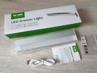 USB Rechargeable LED Drawer Light PIR Sensor Kitchen Cupboard Home Wren Kitchens