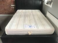 Double bed with storage and mattress