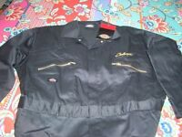 Dickies Challenger Black with Yellow Long Sleeved Work Overalls, Size 50R XXL, BRAND NEW PACKAGED