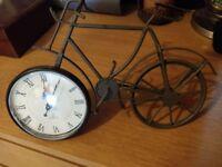 Bicycle ornamental clock