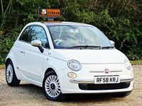 FIAT 500 1.2 LOUNGE 3 DOOR,FULL SERVICE HISTORY+LONG MOT+PANORAMIC ROOF+NEW TIERS+++