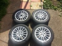16 inch alloy wheels with tyres Vauxhall Saab Fiat Alfa Romeo alloys 5x110 bolt pattern