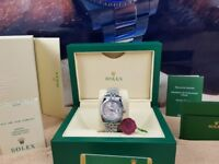 New boxed with papers 36mm siover bracelet silver dial Rolex datejust watch Automatic sweeping