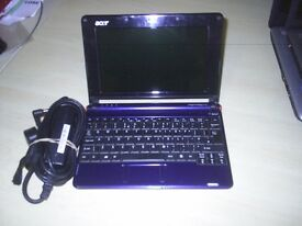 BLUE ACER ONE NETBOOK in good condition. fully working with warranty