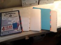 dividers/stationery