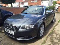 Audi A4 S Line Canriolet gun metal grey super car