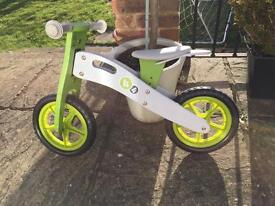 Kids wooden balance bike - great condition