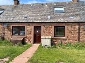 TO RENT - Unfurnished, 2 double bedroom cottage just outside Dunbar. Video viewing available.