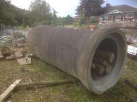 Large concrete pipe