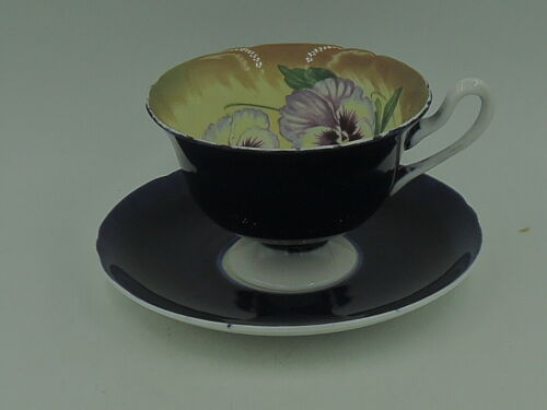 Rare Antique Shelley Purple Pansy Cup & Saucer Fine Bone China