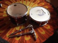 2 x CB SP Series Single Drums 1 Snare 1 Tom & Brackets Kit Parts
