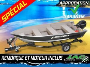 2016 Legend Boats Chaloupe 14 WideBody Bench Mercury 9.9 Bateau