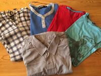 Mens Bundle of Shirts and T-shirts, size Small
