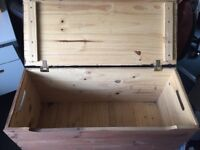 Wooden chest great for storage