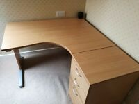 Staples office desk with drawers