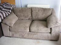 Harvey's Jumbo Cord Brown Sofa RRP £ 550