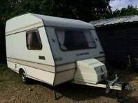 Caravan with full awning