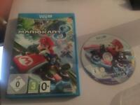 Wii U game Mario kart 8 like new condition