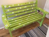 Hand made and painted Garden Bench