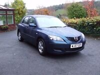 SOLD SOLD Mazda 3 TSD 1.6 Diesel 2007 (07) in blue
