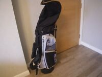 PETER ALLISS TOUR SERIES (TS) GOLF BAG, with Stand and Hood. GREAT CONDITION.