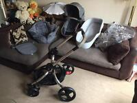 Stunning MOTHERCARE ORB DELUXE PRAMETTE with extras CAN POST