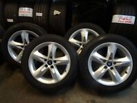 """MINT SET OF 16"""" TRANSIT CONNECT ALLOYS NEW TYRES ALL ROUND QUICK SALE £200 (loads more av} TXT S"""