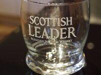 12 x Brand New Scottish Leader Rocking Bottom Whisky Glasses