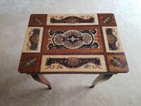 Vintage Italian Musical Sewing Box with Marquetry Inlay