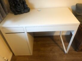 Ikea white kids desk 2 pieces free used