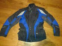 motorbike jacket medium richa ble and black rrp£120 unisex size 12-14