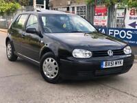 Volkswagen Golf 1.4 petrol 5dr SUNROOF 2 KEYS FSH LONG MOT PERFECT CONDITION