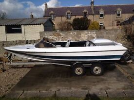 Boat is stored in Beauly - Dateline Bikini 16' Speedboat with 140HP mercruiser inboard and Z drive
