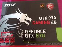 MSI NVIDIA GTX 970 Graphics Card, great condition, boxed