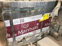 Preset Concrete Charcoal Paving Blocks only 30p each or £100 per pallet