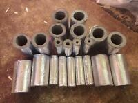 Thermal fire pipe sleeves, 21mm, 34mm, 108mm