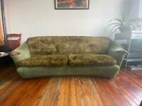 70s style fluffy set of Sofa and 2 armchairs