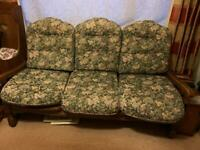 3 Seater settee/sofa Old Charm solid oak