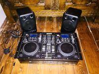 Gemini CDM-4000 CD/MP3/USB DJ Media Player & Speakers