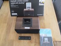 Boxed SANDSTROM SPDBT1612 iPod, iPad, iPhone Wireless Bluetooth Dock + remote control.