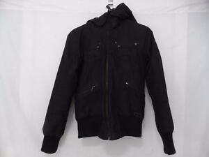 TNA (ARITZIA) ST MORITZ black zip up front coat, small, detachable hoodie, black faux fur lined, popular, in demand, EUC