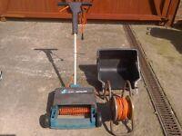 Garden electric lawn raker.
