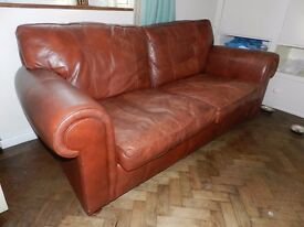 Large Leather 3pc suite manufactured by Wades - Chester area