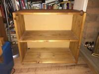 Small Solid Pine Deep Bookcase/Bookshelf