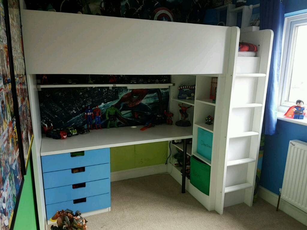 Ikea Stuva Cabin Bed With Desk And Storage In