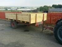 3 ton farm tractor tipping trailer ideal for stables farm logs etc fully revamped