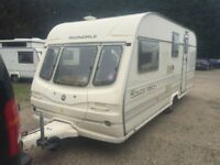 avondale rialto 1999 year 4 berth with sun panel,caravan no damp