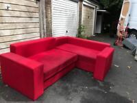 Nice compact corner sofa bed with storage