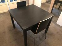 IKEA black table + 5 chairs